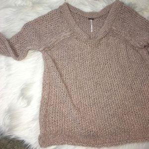 FREE PEOPLE Boatneck Sweater Size Medium